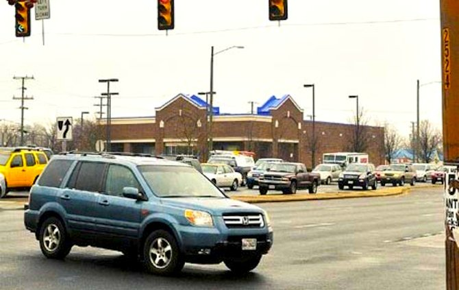 Back-ups on the left-turn lane at the Kings Crossing Wal-Mart have added to existing gridlock on Route 1.