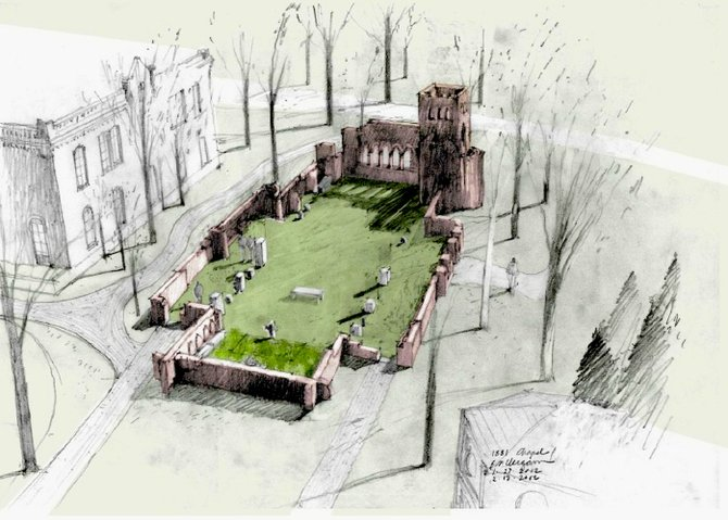 Design for memorial garden.
