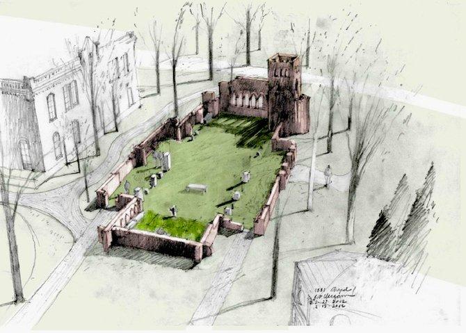 Design for memorial garden.