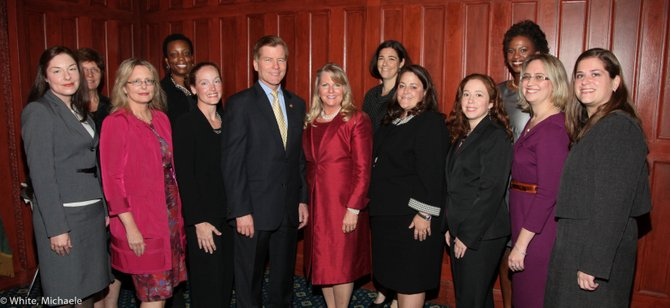First Lady Maureen McDonnell and Governor Robert McDonnell with the Junior League of Northern Virginia.