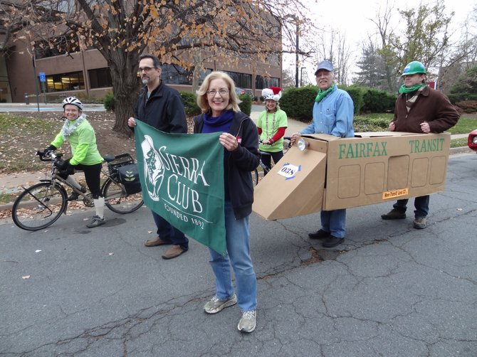 Susan Stillman, John Dukovich, Ivy Main, Roger Dietrich and Keith Bonney showed their support for green transit and the Sierra Club at Winterfest.