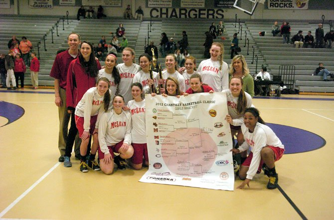 The McLean girls basketball team won the 2012 Pohanka Chantilly Basketball Classic on Dec. 29 at Chantilly High School.