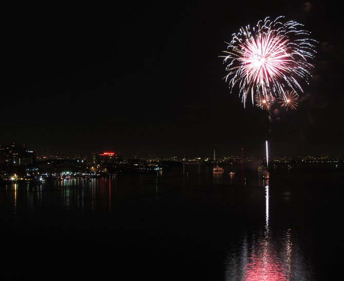 Midnight fireworks over the Alexandria waterfront will celebrate the finale of First Night Alexandria.