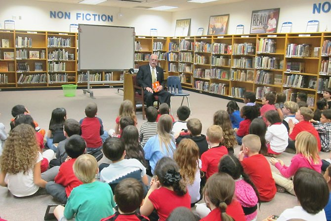 "U.S. Rep. Gerry Connolly (D-11) entertained 75 Springfield second-graders during ""Read Across America Day"" last March to celebrate Dr. Seuss' birthday at Hunt Valley Elementary School. ""He gets an A-plus-plus for being funny,"" said Madeline Cassidy, 8, who thought Connolly could be a ""real"" teacher—if that congressional job doesn't work out."