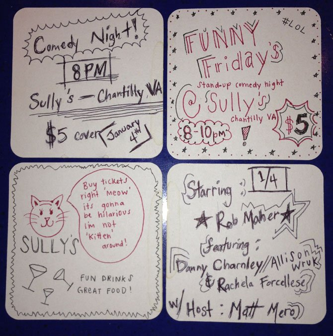 The flyer for the Friday, Jan. 4, comedy show.