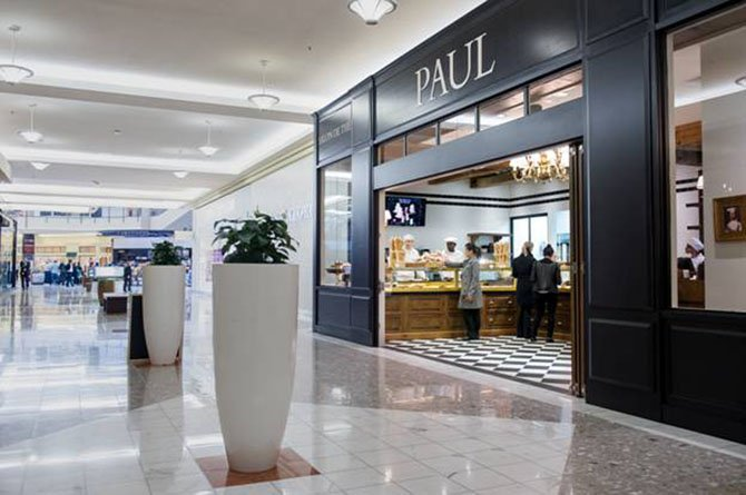 Located just inside one of Tysons Galleria's main entrances, Level I parking garage, PAUL will greet all shoppers as they enter the mall with the aroma of fresh baked bread and pastries.