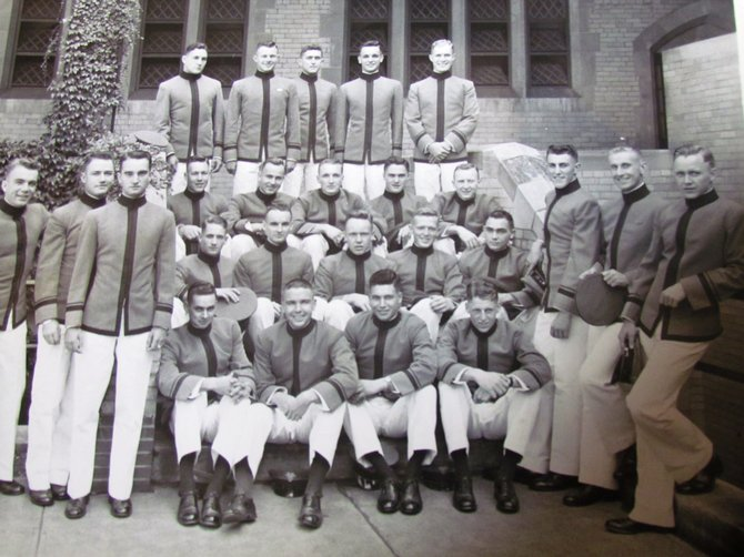 Scott Shipe, who lived in Springfield for 50 years before moving to Greenspring, is pictured second from left (top row) in this photo of West Point Military Academy cadets.