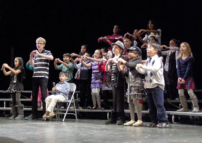 "The Colin Powell Elementary Puma Choir sings ""Something for