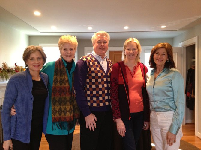 From left—Charlotte Cameron, Helen Frederick, Bill DuBose, Lee DiCenso and Margi Vanderhye.