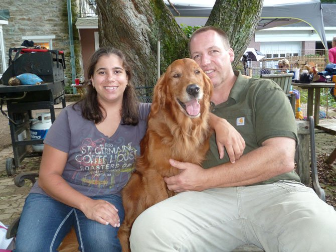 Founder of the Warrior Canine Connection (WCC) Rick Yount with his wife Molly Morelli (breeder and trainer).