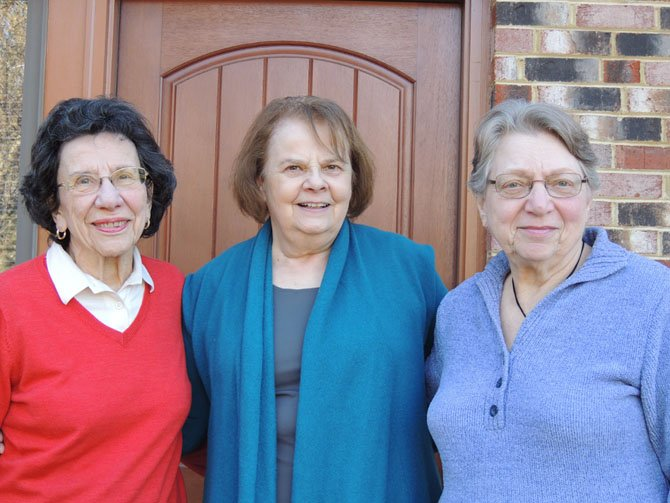 Organizers of the Potomac Community Village are, from left, Nelly Urbach, Jane Blocher and Shirley Dominitz.