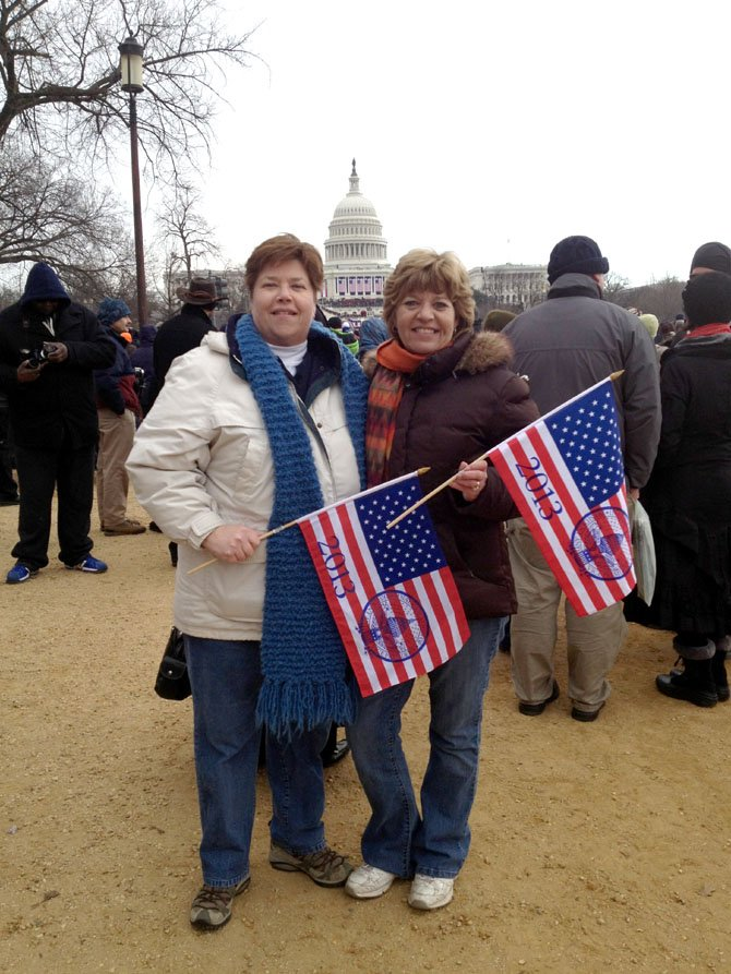 Marcia Chamblin, who attended President Barack Obama's second inauguration with her sister Mary Kay Houck, says she arrived at the Vienna Metro station at 5:30 a.m. to avoid crowded trains.