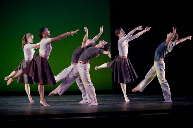 "Mark Morris Dance Group performs Mark Morris' ""Festival Dance."""