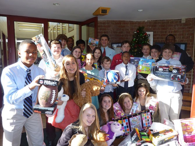 Spearheaded by eighth grade history teacher Karen Ruberg, middle and upper school students from St. Stephen's and St. Agnes joined forces Dec. 13 to donate toys to the Firefighters and Friends annual toy drive.