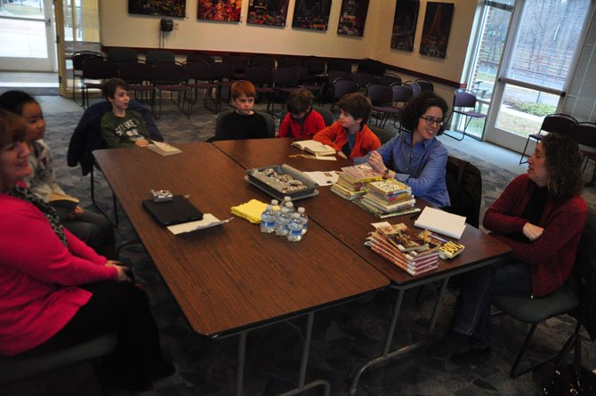 "Members of the Great Falls Library Children's Book Club discuss Roald Dahl's autobiography, ""Boy,"" during their meeting Monday, Jan. 28."