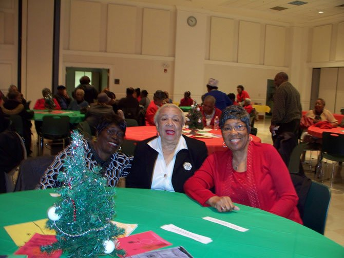 "From left: Participants in the Charles Houston Rec Center's ""Krunch Bunch"" — Mary Holmes, Patricia Mills and Lillian Harris."