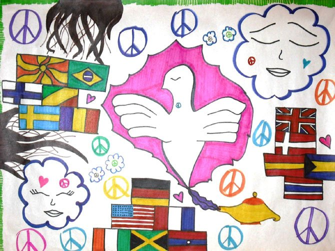 Lily Dunlap's winning peace poster.