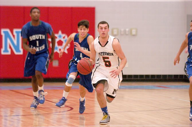 Marshall senior Grant Leibow scored 16 points against South Lakes on Feb. 1.
