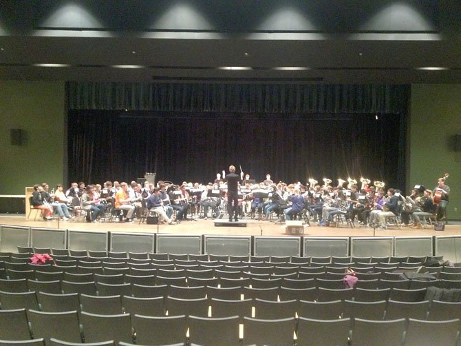 McLean High School musicians rehearse on Friday, Feb. 1.