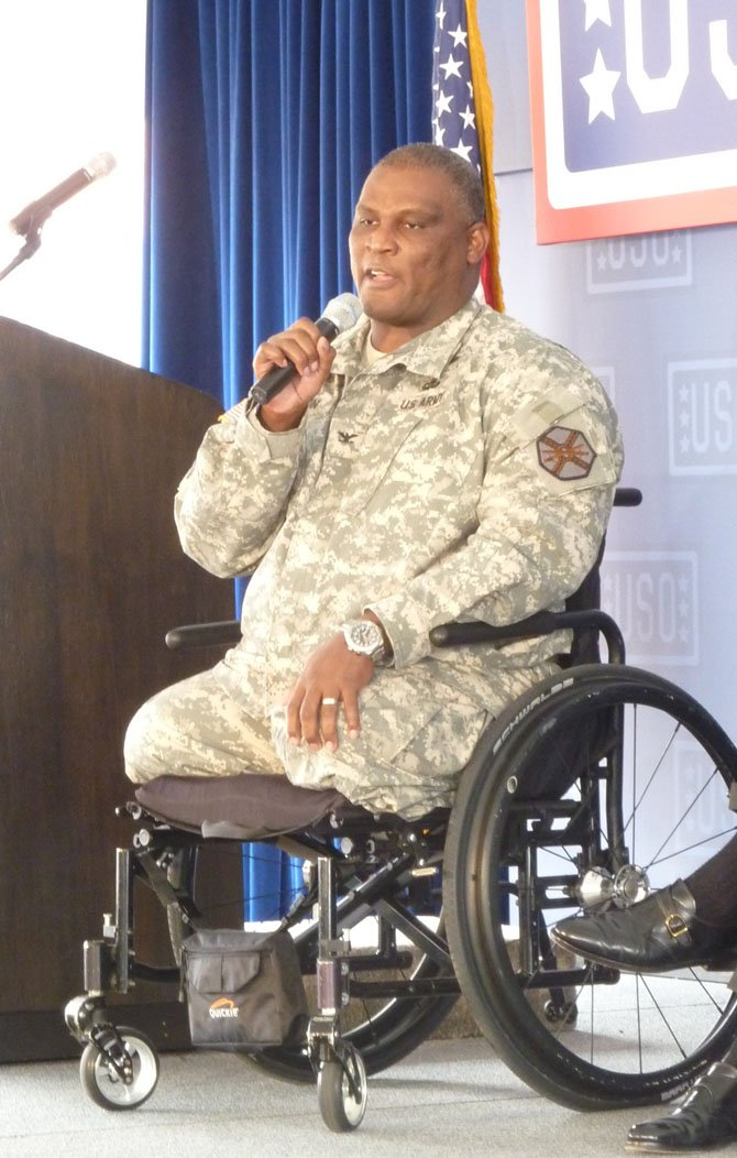 Col. Gregory Gadson, Garrison Commander at Fort Belvoir, will be the keynote speaker at the Friendship Veterans Fire Engine Association breakfast Feb. 18.