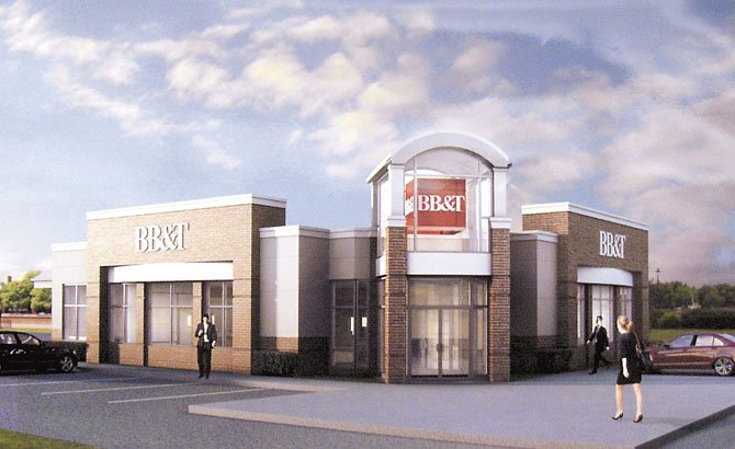 An artist's rendition of the new BB&T Bank that will be built in the Sully Station Shopping Center in Centreville.