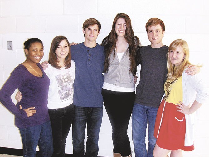 Centreville's student directors are (from left) Binta Barry, Ashley Rosenstein, Kent Clingman, Sarah Wills, Daniel Lindgren and Emma O'Brien.
