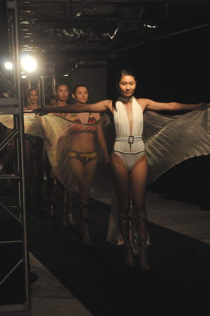 The final runway walk for the 2013 swimsuit line by Brazilian designer D'Milikah.