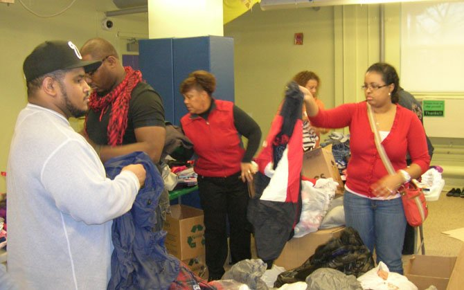 Members of the Missionary Ministry of Chantilly Baptist Church delivered donations to the Redfern Housing Development located in Far Rockaway, N.Y. after Hurricane Sandy.