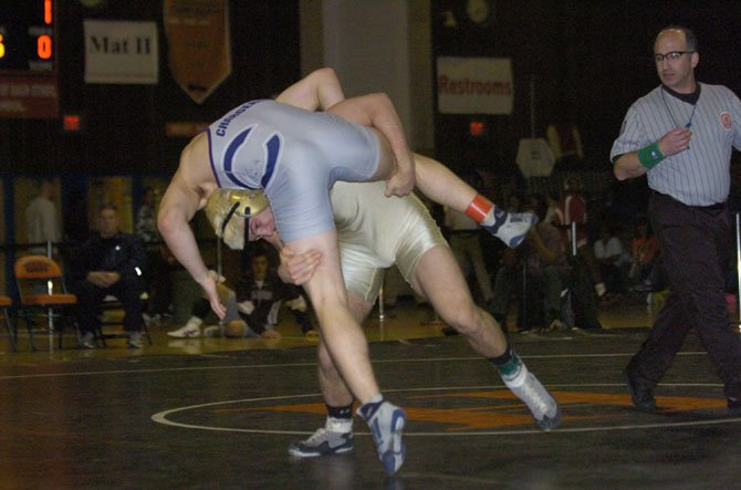 Westfield senior Beau Donahue won his third Northern Region championship and reached the 200-victory mark for his career on Feb. 9 at Hayfield Secondary School.