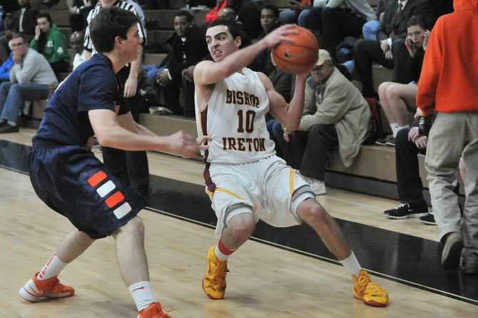 Bishop Ireton senior Louis Khouri scored 14 points against Potomac School on Tuesday in the opening round of the VISAA state playoffs.