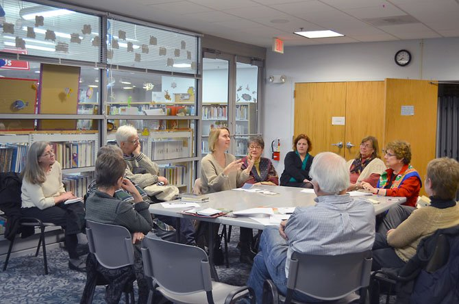The first meeting of the Duncan Library Poetry Society held on Monday, Feb. 11 at the Duncan Library in Alexandria.