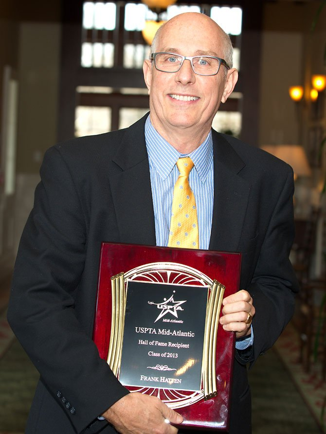 Frank Hatten was inducted into the Mid-Atlantic Professional Tennis Association Hall of Fame on March 9.