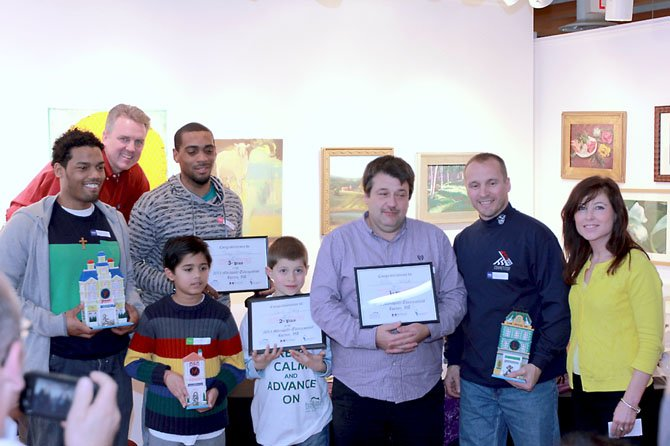 And the winners are (from left): Archie Randall (sixth place); event founder and co-sponsor Ron Kowalski; Toney 