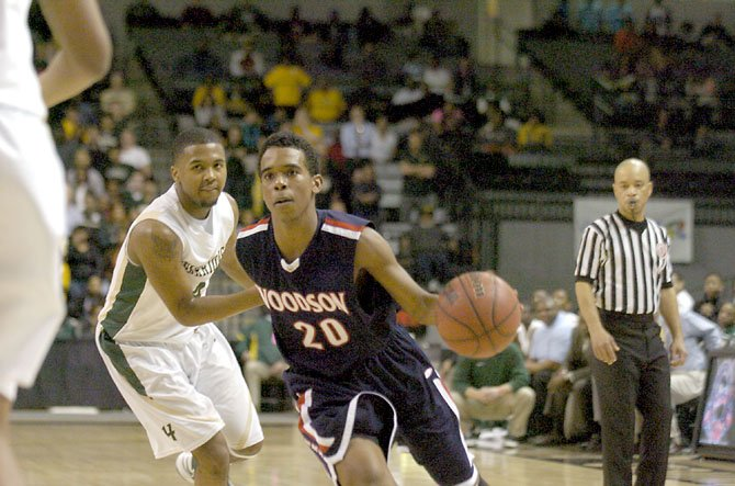 Woodson sophomore point guard Eric Bowles scored 14 points against Henrico in the AAA state semifinals on March 4 at VCU's Siegel Center in Richmond.