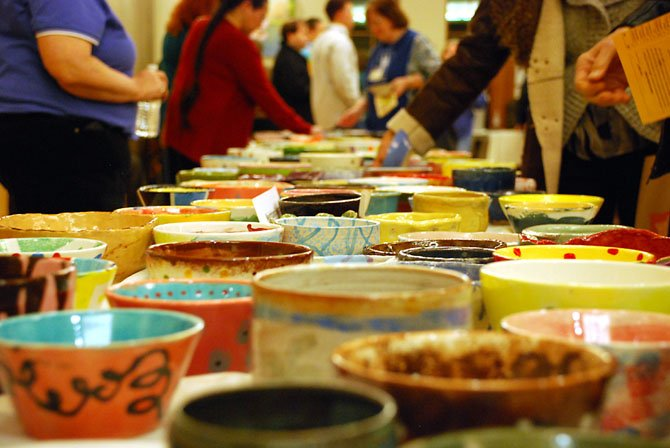 Four hundred bowls from local professional and amateur artists were available to take home as part of admission to the fifth annual Empty Bowls event to benefit Our Daily Bread.
