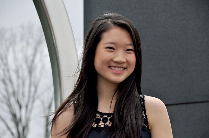 Thomas Jefferson senior Katherine Ho, who was awarded a scholarship by the Siemens Foundation for her performance on AP exams. Ho was one of two awardees from Virginia.