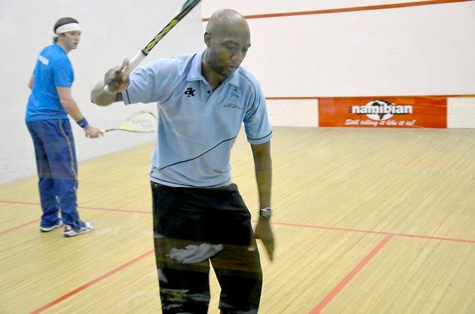 Lekgotla Masope, a squash instructor at Regency Sport and Health, with his partner Allister Walker, recently competed in the All Africa Senior Squash Championships in Namibia. 