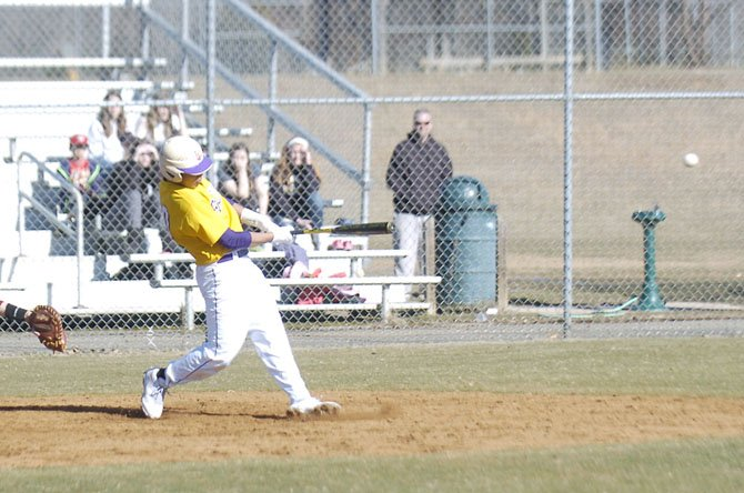 Senior infielder Alex Lewis is one of several Lake Braddock baseball players overcoming an offseason injury.
