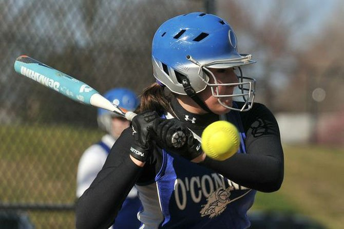 Bishop O'Connell senior catcher Jillian Ferraro did not strike out last season.