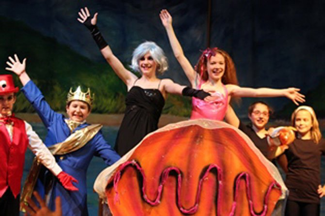 "Washington Episcopal School sixth-grade students during the finale of their production of ""The Little Mermaid Jr."" from left are Louie Akins, Matthew Sheets, Emma Stanfill, Ryan Kyle, Sareen Balian and Juliet Faris."