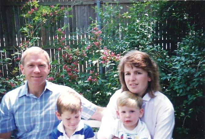 Charlie and Ginny Hill with sons Charles Jr. and Robert. Corporal Charles W. Hill was the last Alexandria police officer to be killed in the line of duty. He died March 22, 1989 during a hostage situation on Hopkins Court in Old Town.