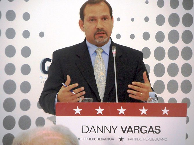 Danny Vargas, CEO and founder of VARcom solutions, during a 2012 mock debate in Spain.