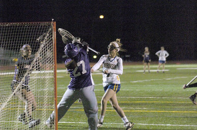 Robinson junior Maggie Hyland scored a career-high eight goals against Lake Braddock on Tuesday.