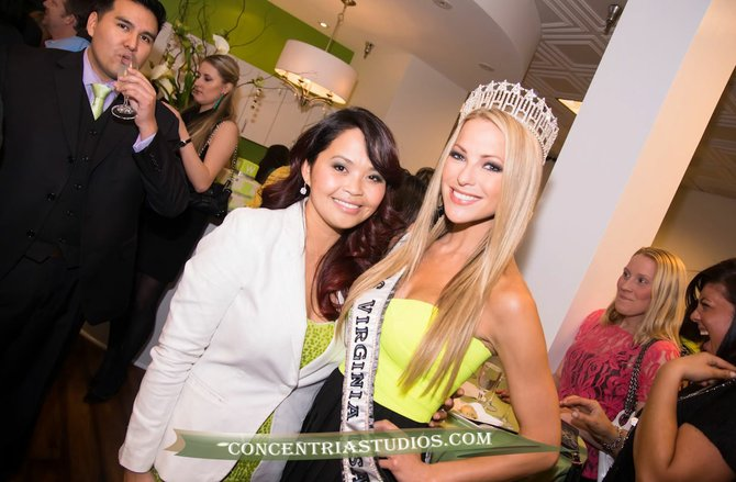 Salon owner Souny West with Miss Virginia USA 2013 Shannon McAnally