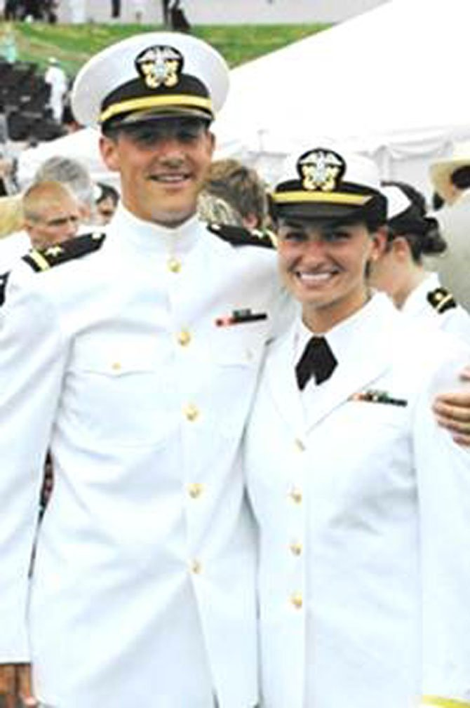 Lieutenant Junior Grade Brittany Nicole Amerau and Lieutenant Junior Grade Christopher Paul Harris are engaged.