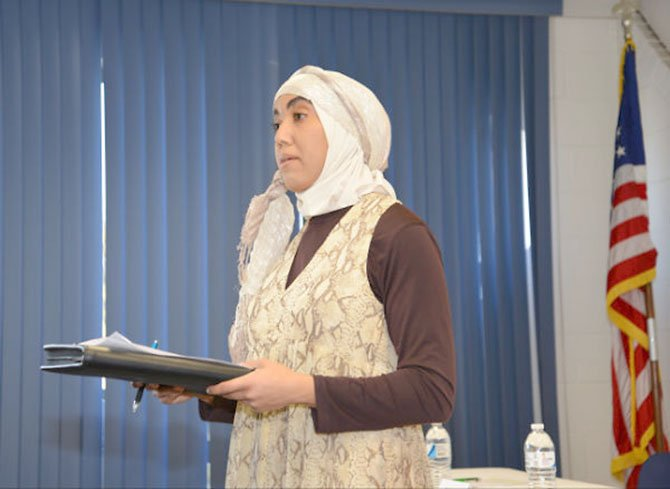 Event organizer Hajjar Ahmed put together a panel of Muslim women from the sciences, technology, engineering and math fields for a National Women's History Month presentation, encouraging the next generation to study in those disciplines.