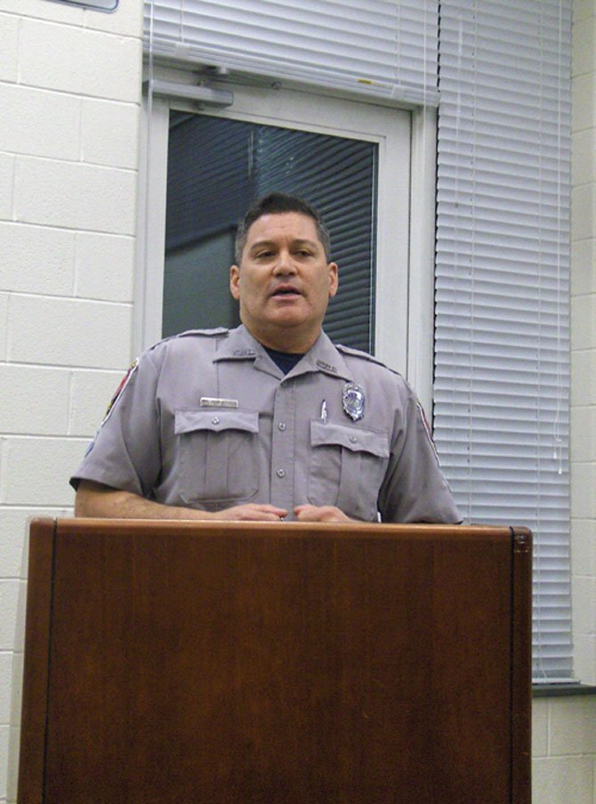 Westfield High SRO Lou Muñoz gives advice to parents.