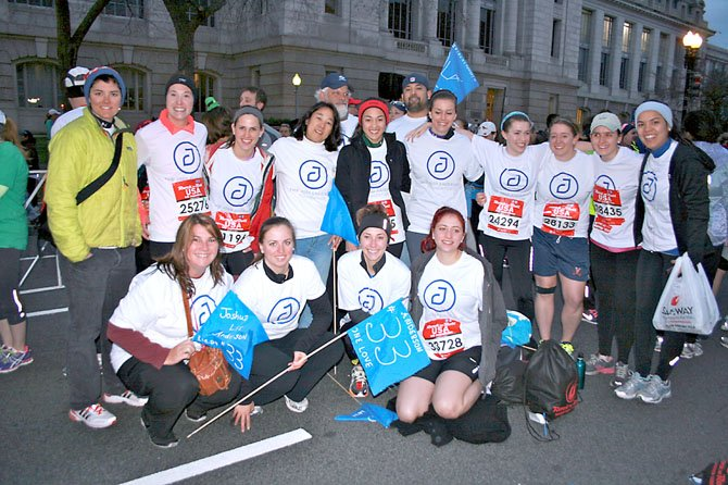 Family, friends and supporters of the Josh Anderson Foundation participate in the Rock 'n Roll Half Marathon in Washington, D.C. Saturday March 16. The foundation, which supports mental health and depression awareness, has had a team in the marathon for the last four years to fundraise for its activities.