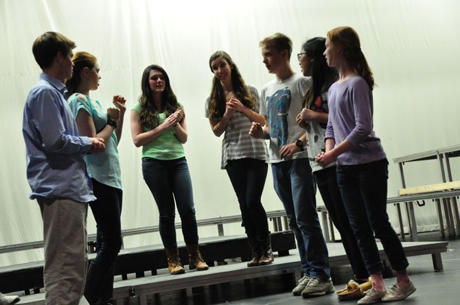 "Students in Langley High School's production of ""The Life and Adventures of Nicholas Nickleby"" prepare a production of ""Romeo and Juliet,"" a play within the play."