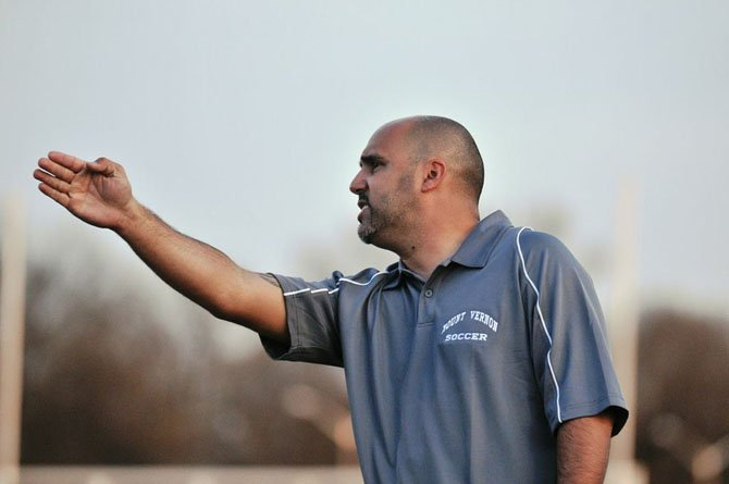 Tony Garza is in his first season as head coach of the Mount Vernon boys' soccer program.
